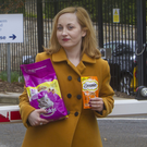 Belfast Telegraph reporter Victoria Leonard looking to feed the cats at Stormont