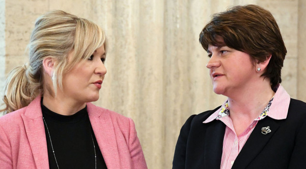 Michelle O'Neill and Arlene Foster in Stormont