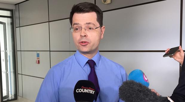 James Brokenshire confirmed the talks to restore powersharing will be suspended for Easter
