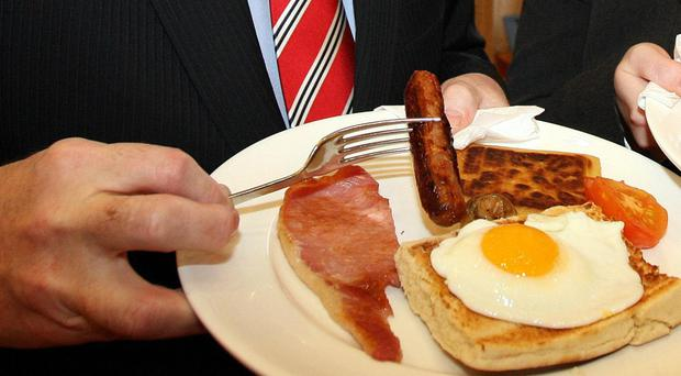 The price of a traditional Ulster fry has risen, figures show