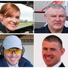 R116's crew, clockwise from top left, Dara Fitzpatrick, Paul Ormsby, Ciaran Smith and Mark Duffy