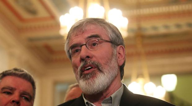 Gerry Adams called for fresh elections if no agreement is reached