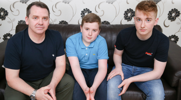 Mark Mills with sons Zak and Josh Mills