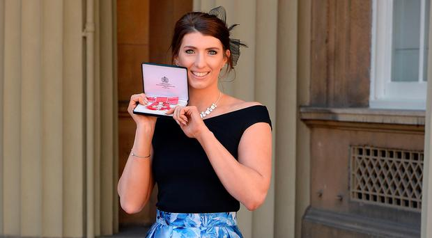 Bethany is delighted with her MBE