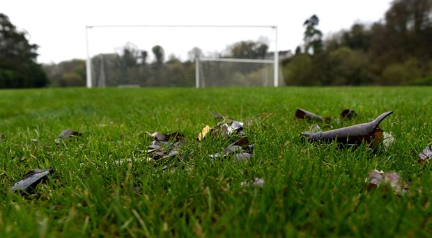 Pitches at Donnelly's Holm strewn with rubbish, including shards of broken glass