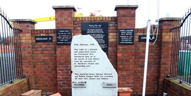 A memorial on the lower newtownards road