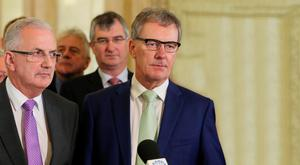UUP's Danny Kennedy (left) and Mike Nesbitt