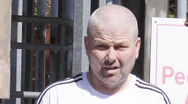 Larne man Alan Cowan leaves Coleraine Magistrates Court