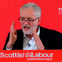 Pledge: Labour leader Jeremy Corbyn during a speech yesterday