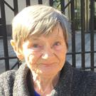 Barney Watt's widow Teresa Watt outside Laganside courthouse in Belfast