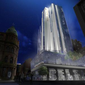 Artist's impression of the hotel on the site of Windsor House in Belfast (Hastings Hotels/PA)