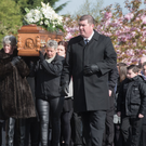 The funeral of Dean Millar takes place at St Mary's Church in Creggan yesterday