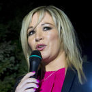 Sinn Fein's Michelle O'Neill attends a vigil in Clonoe in February for IRA men who were killed by the SAS in 1992