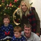 Accident victim Jonathan Gormley with his family weeks before his death
