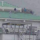 CCTV footage of young people on the roof of the Royal Victoria Hospital, Belfast