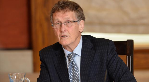 Sir Patrick Coghlin at the opening of the RHI inquiry yesterday