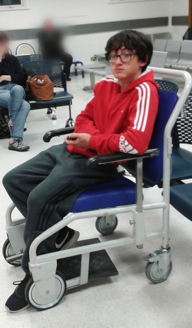 Niall Sabour in the Ulster's A&E