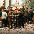 The scene of the Enniskillen Remembrance Sunday bombing in 1987