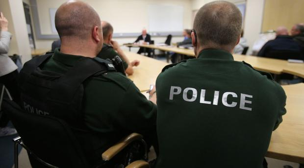 The PSNI said the man has been charged with possessing an article with blade or point in a public place, threats to kill and possession of an offensive weapon with intent