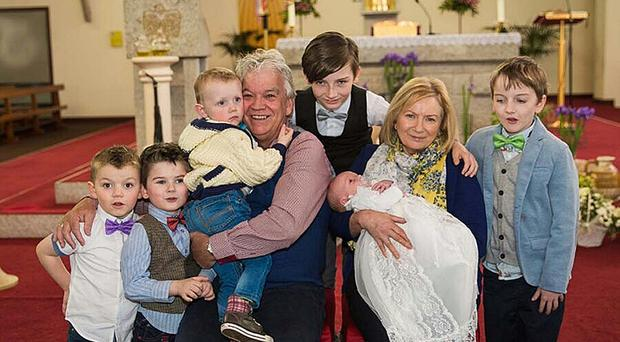Pat and Elizabeth Canavan and their grandchildren (Family Handout/PA)