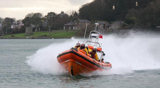 The Portaferry lifeboat goes to the aid of a cabin cruiser on Strangford Lough