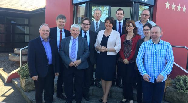 DUP leader Arlene Foster pays a visit to the Foyle constituency