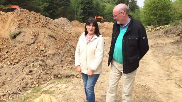 Anne Morgan and her husband visited the search site for her brother Seamus Ruddy