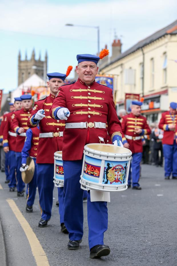 Up to 10,000 members of the Loyal Orders took part in a parade and religious service in Portadown to mark the 500th anniversary of the Reformation