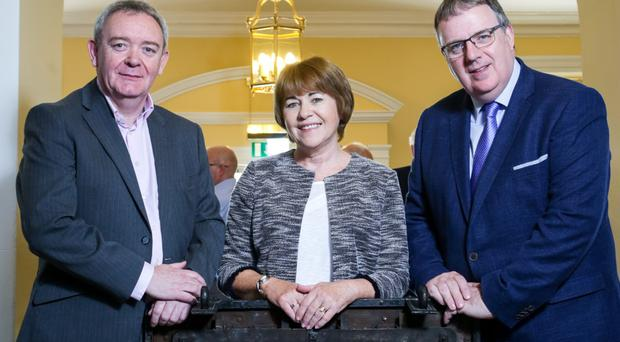 Damian McAteer, Una MaCauley and Martin McCarthy at the launch of the Building Better Futures fund at Belfast's Clifton House (Stakeholder Communications/PA)