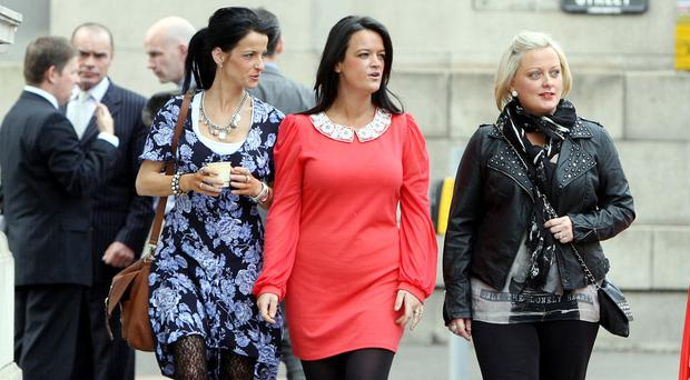 Kieran Doherty's family attending an earlier hearing.