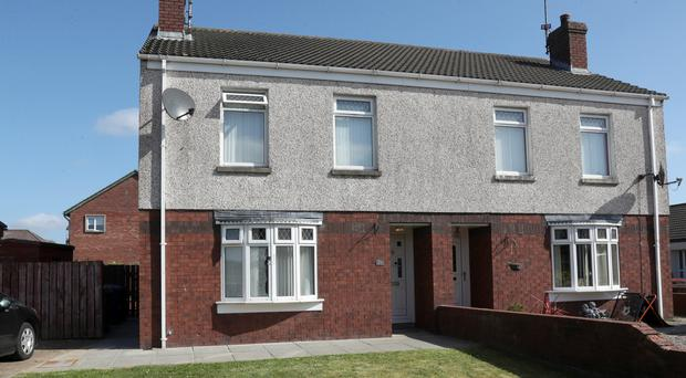 The house in Ashleigh Crescent, Lurgan, which was attacked on Sunday evening