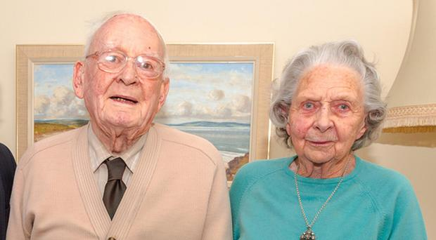 The Rev Eric Borland and his wife Muriel celebrate his 100th birthday