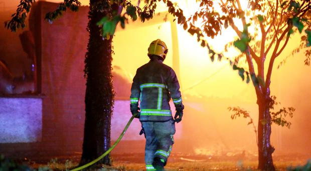 Firefighters battled for eight hours to put the blaze out,