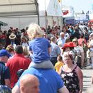 Crowds gather for the annual Balmoral Show, on the former Maze prison site near Lisburn, County Antrim