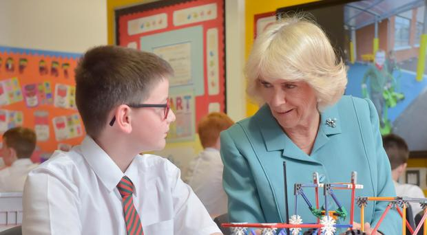 The Duchess of Cornwall at Dromore Central Primary School