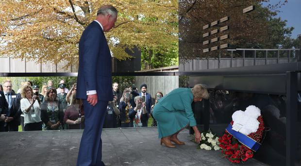 Charles and Camilla at the opening of the memorial garden at the Police Service of Northern Ireland HQ in Belfast