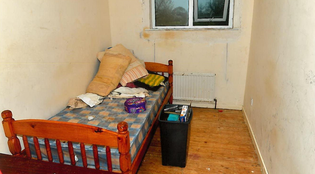 The filthy bedroom where the Bakers kept their helpless victim as a sex slave for eight years