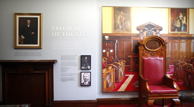 A preview of the new Belfast City Hall exhibition, which fills 16 rooms