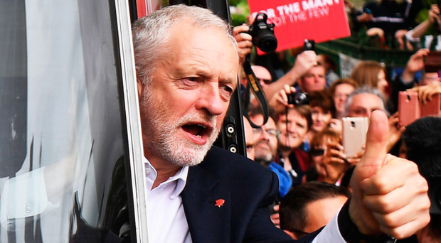 Labour leader Jeremy Corbyn on the election campaign trail
