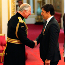 Chris Coleman is made an OBE by the Prince of Wales