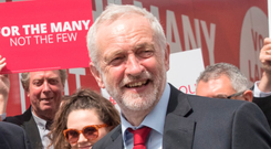 Battle stations: Labour leader Jeremy Corbyn
