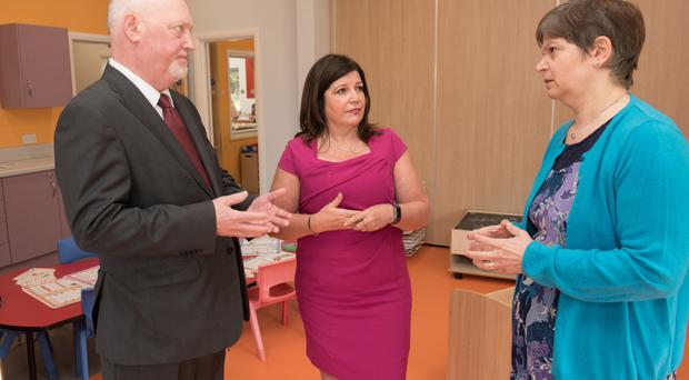 District Judge Barney McElholm, Marie Brown of Foyle Women's Aid and Koulla Yiasouma, NI Commissioner for Children and Young People