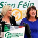Sinn Fein's Michelle O'Neill and Michelle Gildernew launching the party's General Election manifesto yesterday