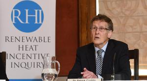 Sir Patrick Coghlin is chairman of the Renewable Heat Incentive inquiry in Belfast