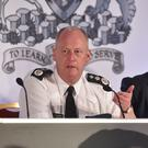 Chief Constable George Hamilton and Police Federation boss Mark Lindsay