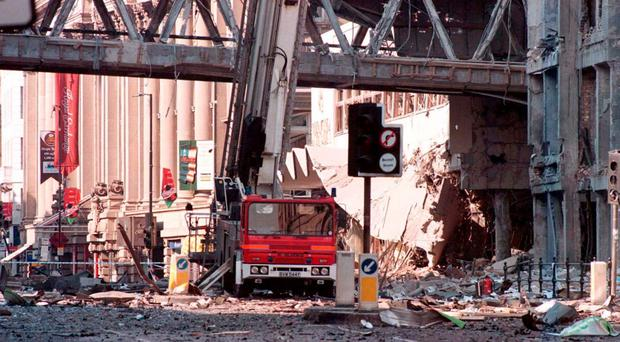 IRA bombing in Manchester in 1996