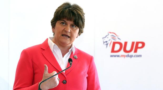 DUP leader Arlene Foster said she was 'very confident' a referendum on a united Ireland would not be held