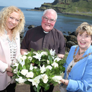 Fr Austin McGirr with (left) the Mayor of Sligo, Marie Casserly, and the Mayor of Causeway Coast and Glens Borough Council, Maura Hickey
