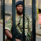 Security: Soldier patrols in London