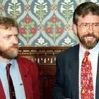 Jeremy Corbyn with Sinn Fein's Gerry Adams in 1994
